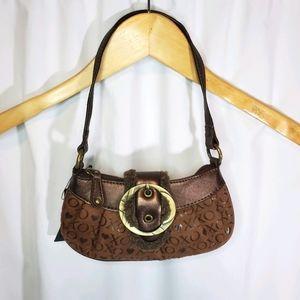XOXO Small Hobo Purse Brown Shoulder Bag